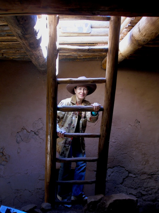 Doree inside the Kiva, Pecos National Monument, Pecos,N.M. <br>Photograph: Thom Valenza