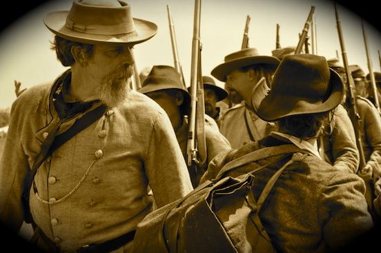 Reenactment at Gettysburg, Pa. 2011<br>CSA Reenactors  Photograph: D.Valenza