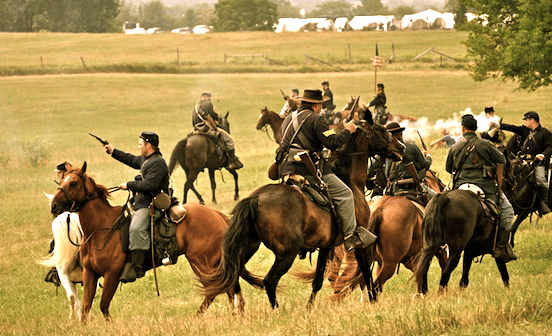 Reenactment at Gettysburg, Pa. 2011<br>Photograph: D.Valenza