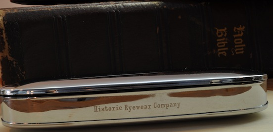 Historic EyeWear Company Spectacle case front view<br>