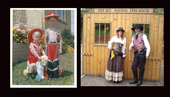 Mama, don't let your babies grow up to be cowboys....<br>Leonie & Graeme Macreadie, Victoria, Australia, local SASS event