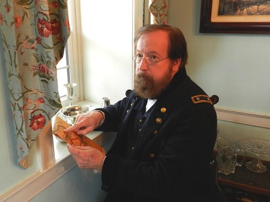 Scott Thomas portraying Major General James B. McPherson US<br>Scott Thomas is a member of Lincoln`s Generals visit 