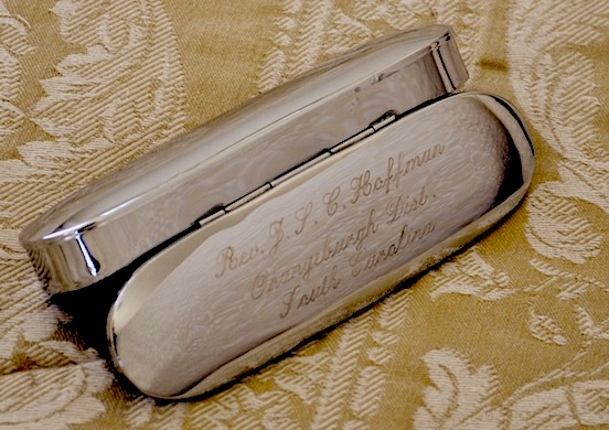 Rev. Hoffman, South Carolina<br>Historic Eyewear Company 1800`s Spectacle Case with custom three line engraving