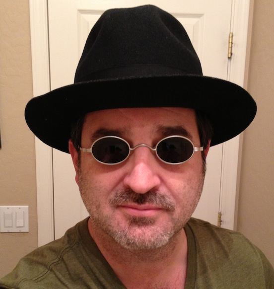 David Spitzer, Arizonia<br>David is wearing the 1835-80 Oval Large with dark protective lenses