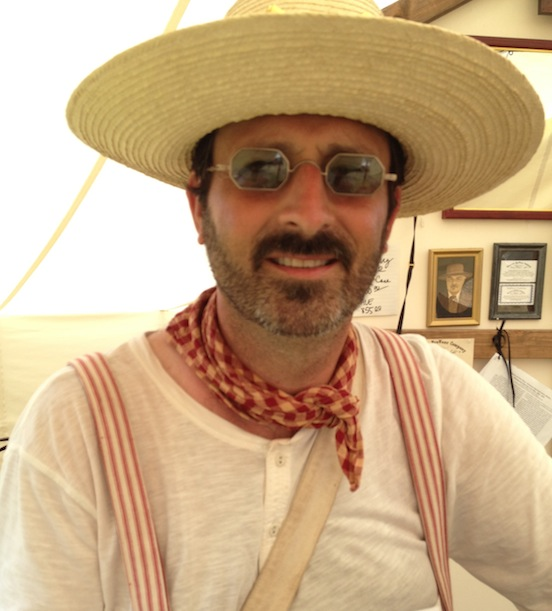 At the 150th Under our tent..<br>Duncan Curd, Canada wearing his new specs!