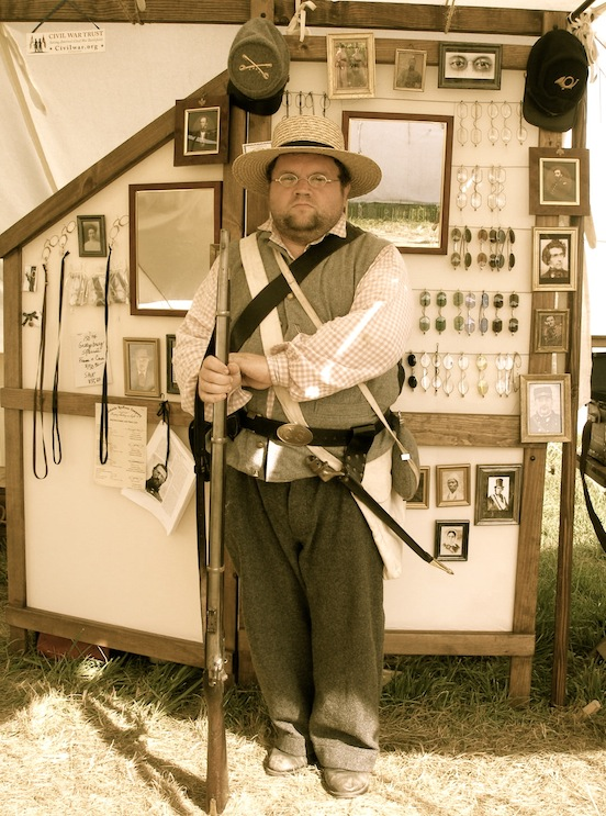 Brian Bobrowski, Sterling Heights, MI visited our tent<br>His outfit was compete with his new specs!