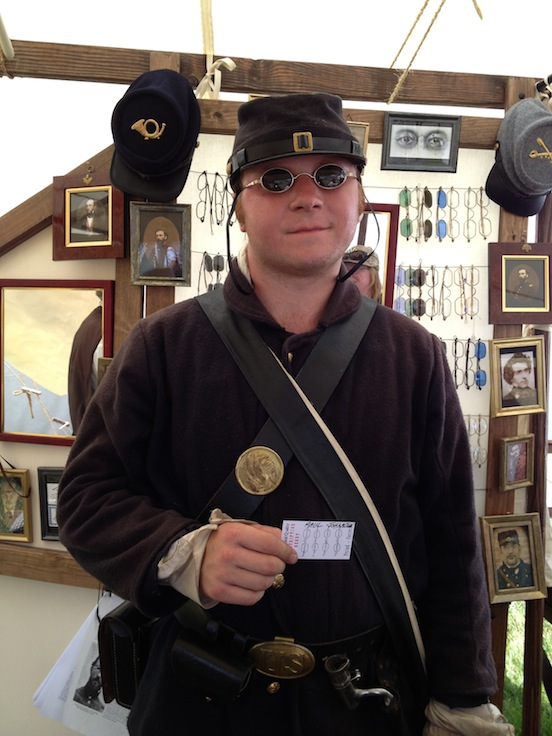Paul Johnson Jr from Smyrna DE <br>Paul is a reenactor and university student. He looks great in his new specs!