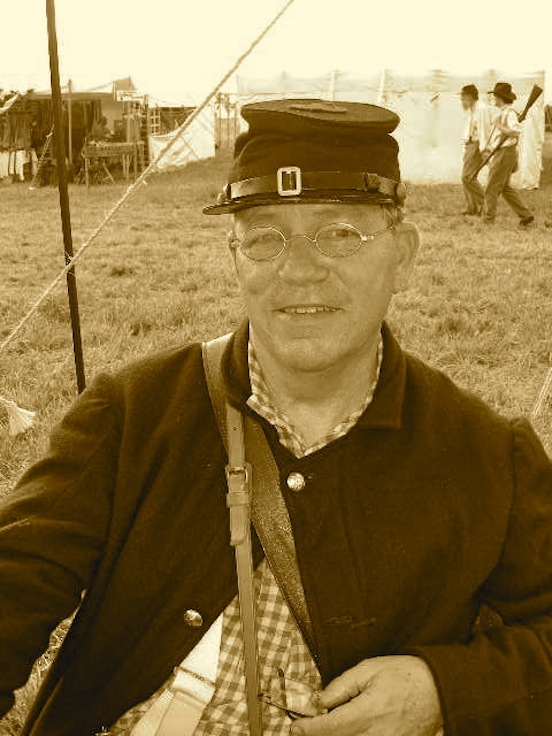 John Eads from Durham, NC <br>John visited us under the tent at the 150th Gettysburg