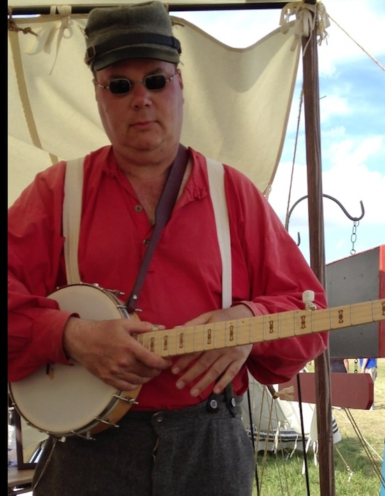 Thomas Keefer, Musician playing a tune at the 150th Gettysburg<br>