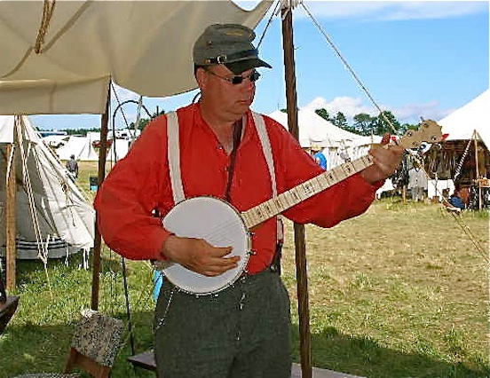 Thomas Keefer, Musician playing a tune at the 150th Gettysburg<br>Thomas took time to play us all a tune! We really enjoyed!!!