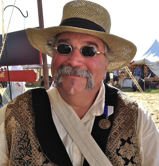 Steve Wolf, 150th Gettysburg<br>Steve is sure happy with his new specs!