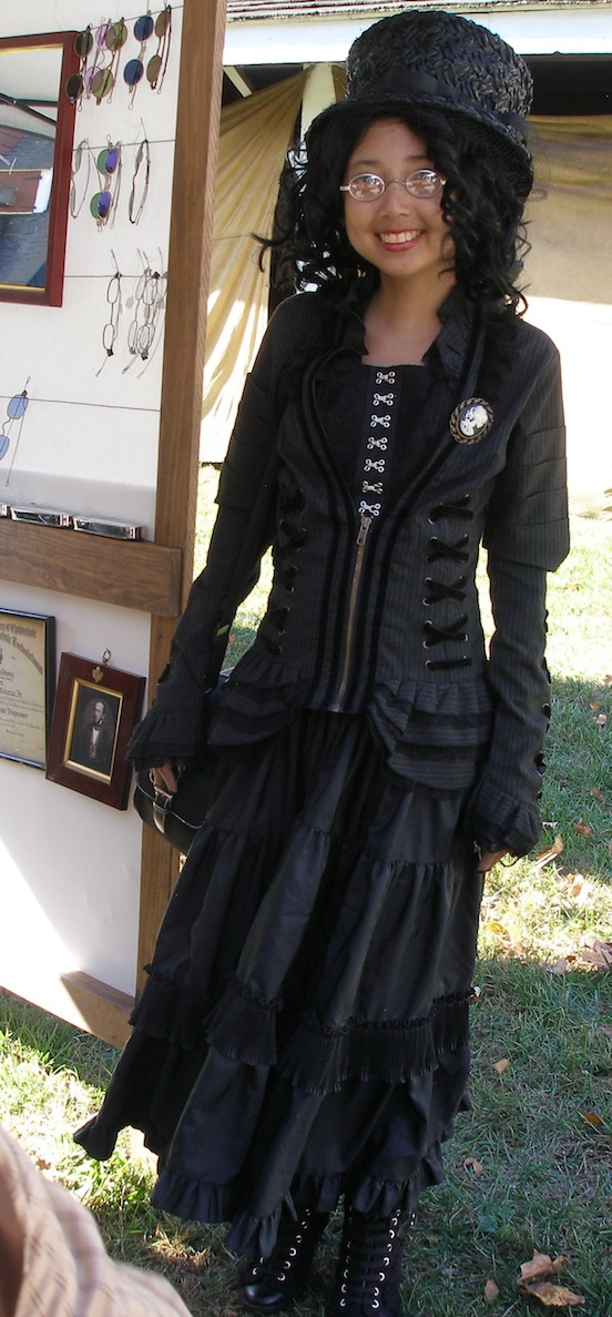 Hope Bertelsen from NJ <br>at the International Steampunk City event Morristown, N.J. Oct 2013