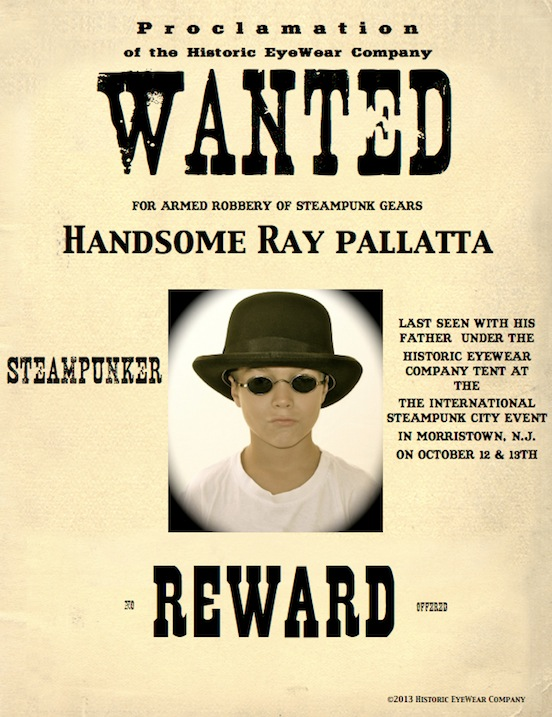 Ray Pallatta from New Jersey<br>wanted for armed robbery of steampunk gears