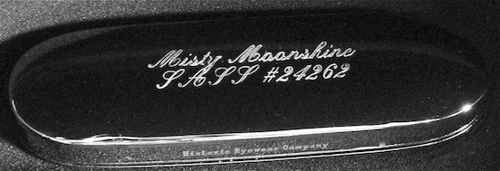 Historic Eyewear Company 1800`s Spectacle Case  with custom engraving<br>Misty Moonshine  Single Action Shooting Society