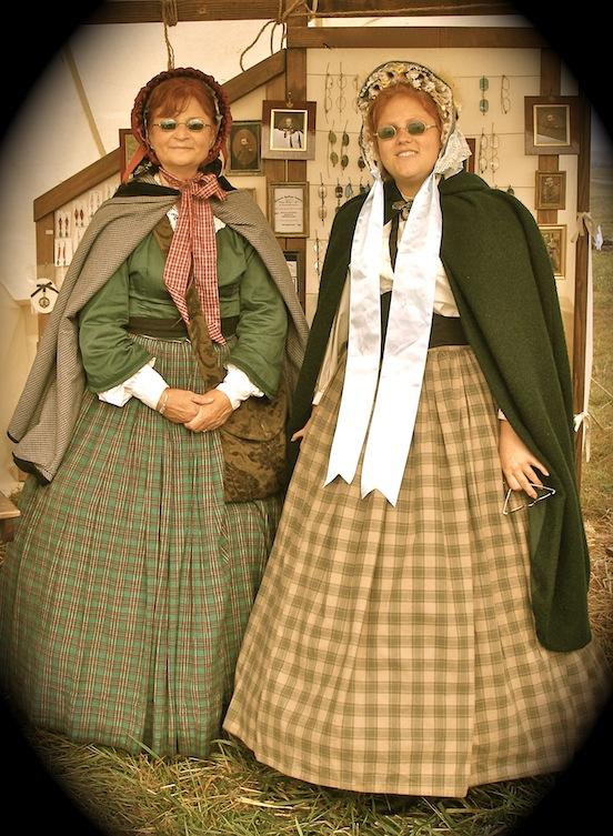 Emily and Amanda Morgante<br>Cedar Creek Battle Reenactment