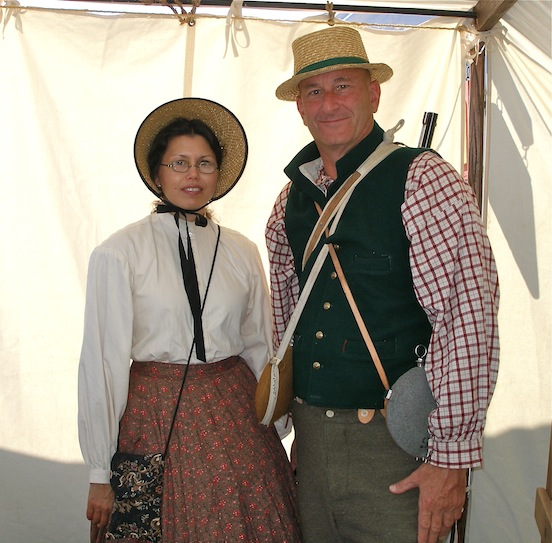 Jennifer and Mark D`Arezzo <br>At the Cedar Creek Battle Reenactment