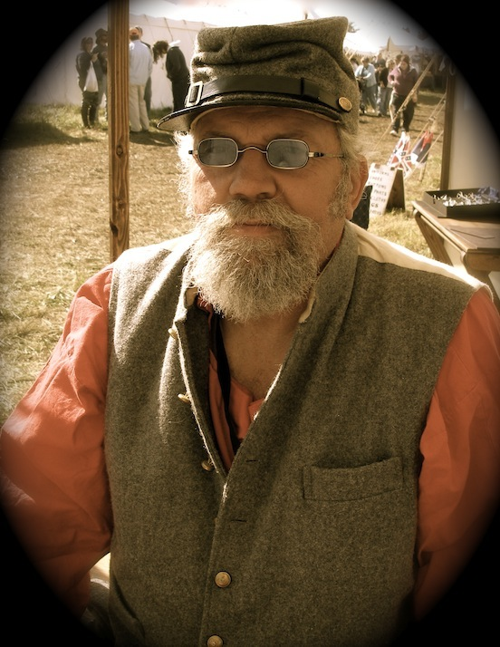 Kevin Jefferson, reenactor<br>Cedar Creek 140th Battle Reenactment