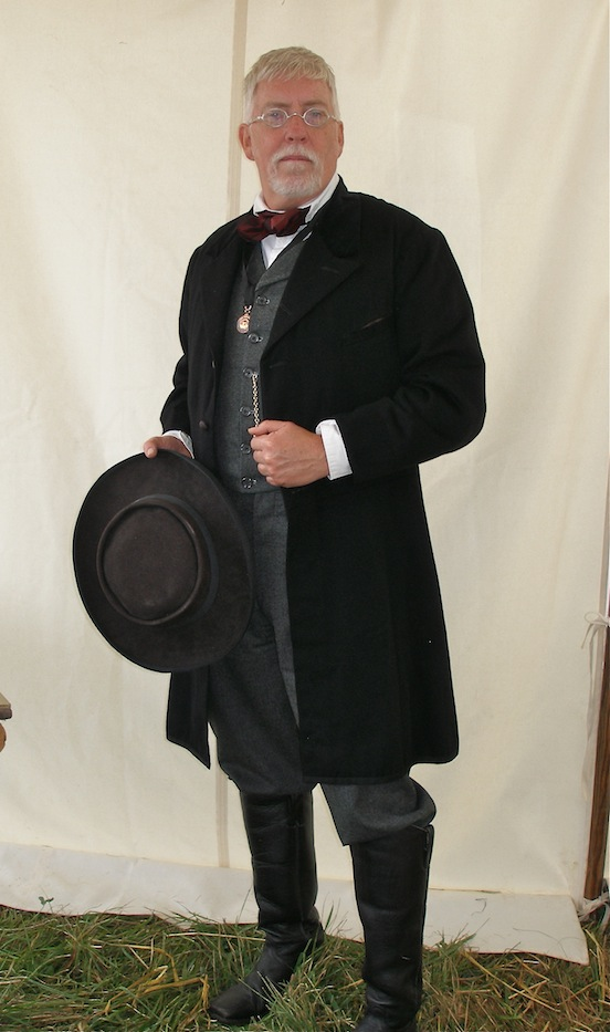 Author Thomas William Tear<br>At the 149th Cedar Creek Battle Reenactment.