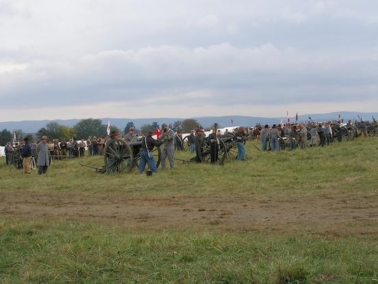 CSA Artillery ready their cannons<br>149th Cedar Creek Battle Reenactment Oct. 2013