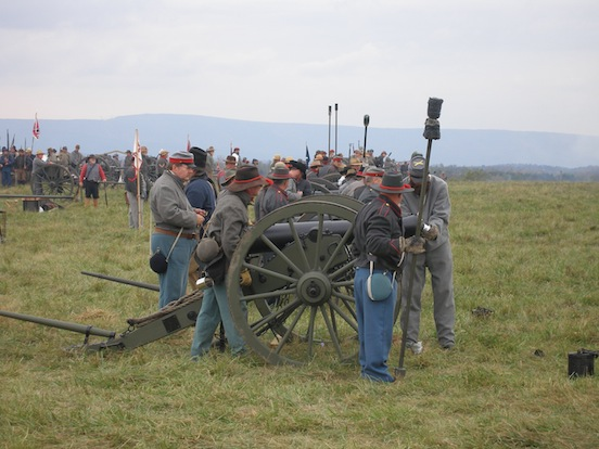 CSA Artillery ready their cannons<br>149th Cedar Creek Battle Reenactment