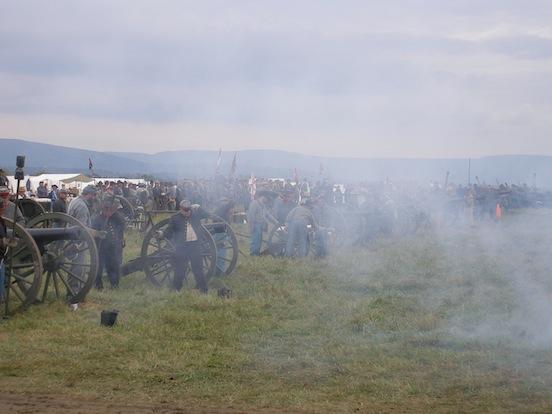 CSA Artillery fire<br>