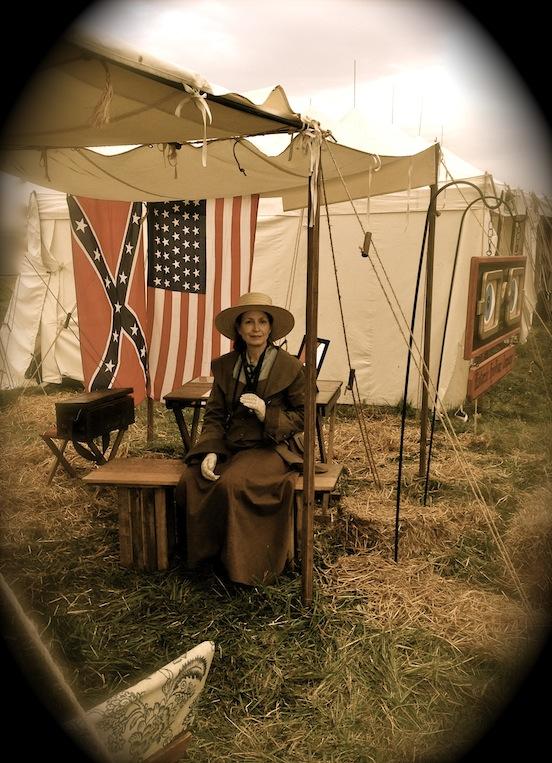 Doree Valenza at Cedar Creek Battle Reenactment<br>