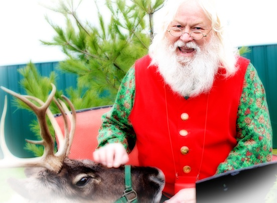 Santa Paul Goodell with Reindeer<br>
