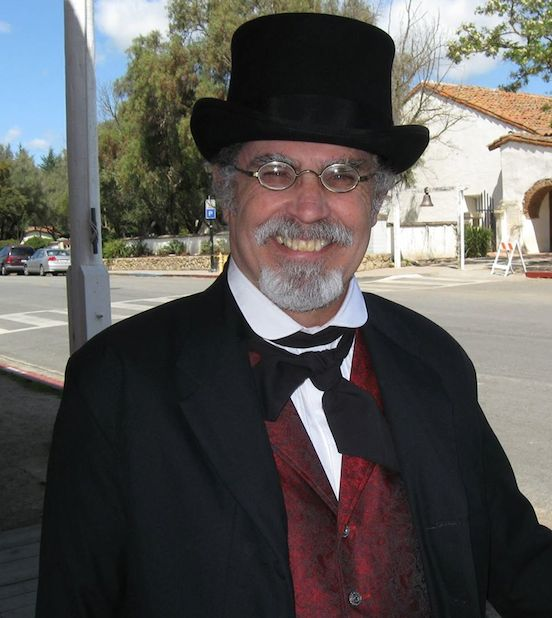 Robert Groeling <br>Robert is a docent at historic San Juan Bautista, in Central California. He portrays John Comfort, who originally owned the bar and part of the hotel in San Juan.
