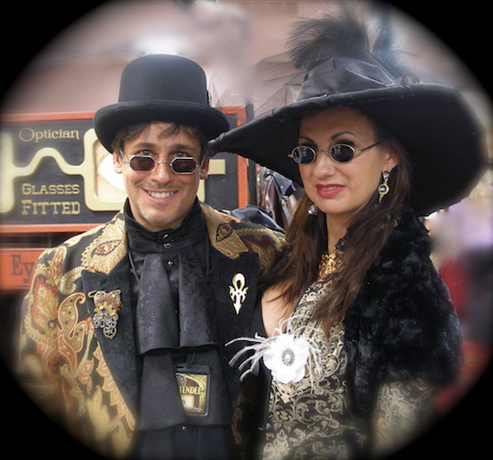 John Pisa and Bethann Hannal <br>Steampunk World`s Fair 2014, Piscataway, NJ