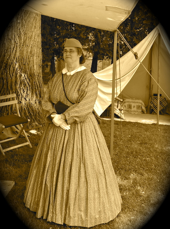 Michelle Cantona, Living Historian <br>Morristown, NJ Civil War Event July 2014