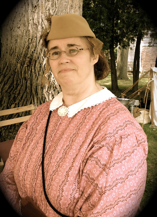 Michelle Cantona, Living Historian<br>Morristown, NJ Civil War reenactment July 2014