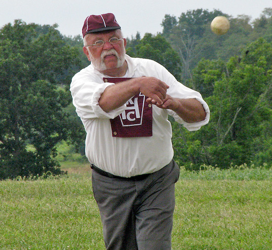 Rich Heinick, 19th Century baseball-2014 Gettyburg Festival<br>
