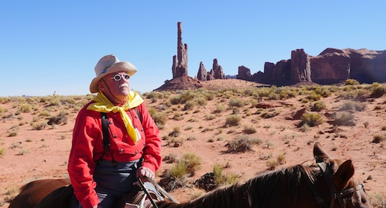 Robert `Doc` Crabb<br>Trail Guide, Doc Crabb,of Great American Adventures on horseback ride through Monument Valley.
