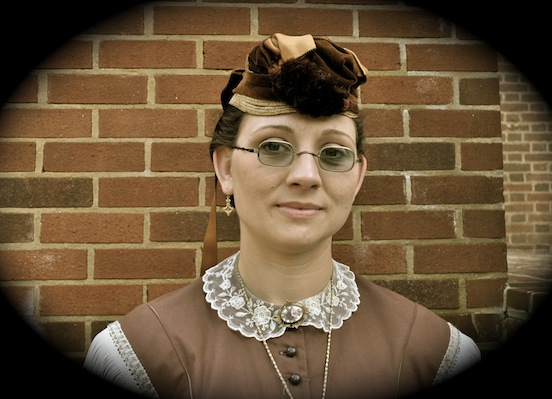 Amy Marie Beechler Portraying Laura Ratciffe Confederate spy<br>Photograph: D. Valenza