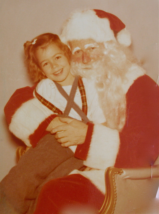Doreen Valenza, circa early 1950s <br>Doreen and Santa, Houston,Texas