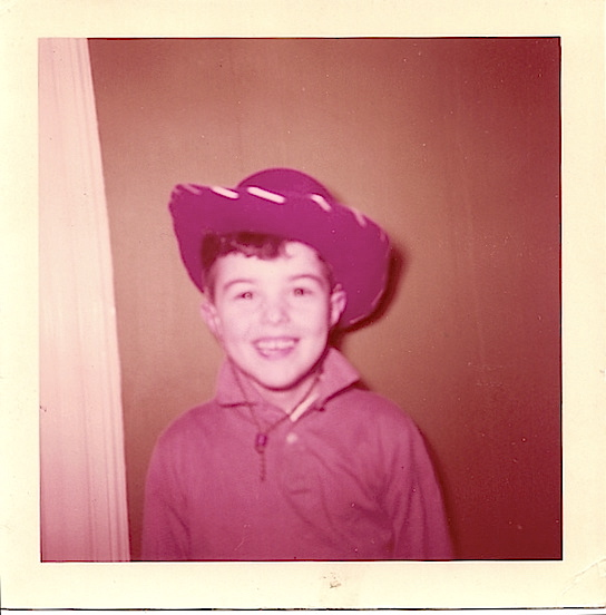Thomas Valenza, circa 1957<br>I wanted to be a cowboy!