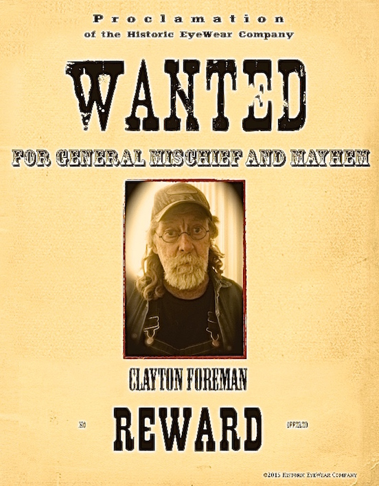 Clayton Foreman<br>Wanted poster of Clayton Foreman