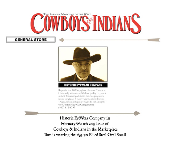 Cowboy & Indians magazine ad<br>Oval Large Blued Steel in Cowboy & Indians magazine