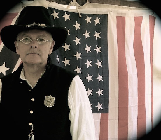 Ken Garbe<br>At the N.J.Civil War Heritage Association Encampment, Allaire State Park, May 2015