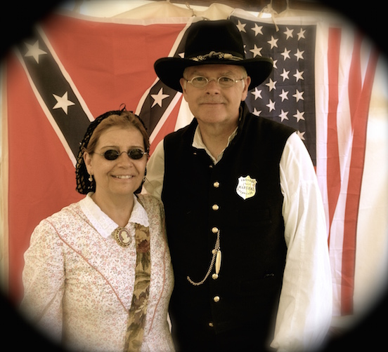 Jackie and Ken Garbe<br>At the N.J.Civil War Heritage Association Encampment, Allaire State Park, May 2015