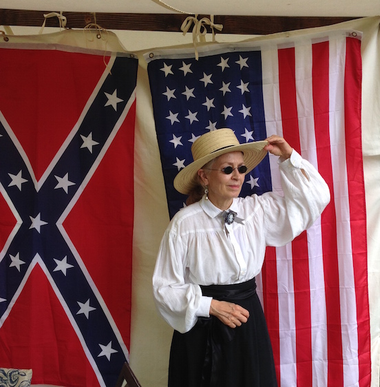 Doreen Valenza<br>At the N.J.Civil War Heritage Association Encampment, Allaire State Park, May 2015