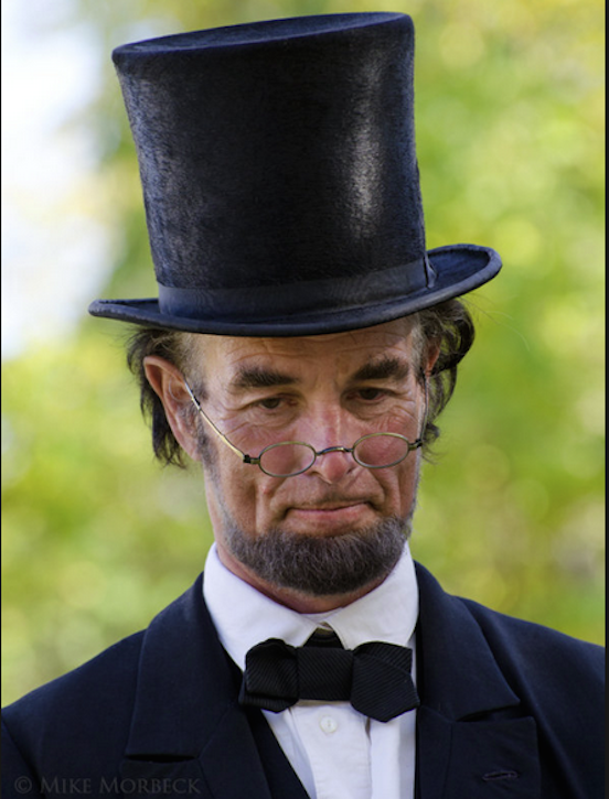 President Lincoln as portrayed by actor Fritz Klein<br>Fritz Klein portrays President Abraham Lincoln