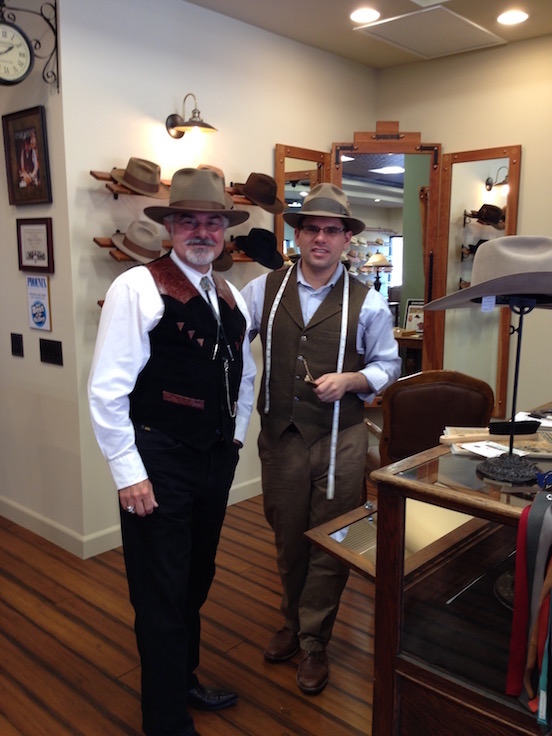 Watson`s Hat Shop   Cave Creek, Arizona<br>Thomas Valenza wearing his new hat made by  Eric Watson of Watson`s Hat Shop in Cave Creek, Arizona