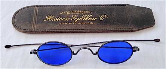 Bethlehem Blued Steel shown with 1800s Genuine Leather Slip-In Case<br>Genuine Leather Slip-In Spectacle case $10.00