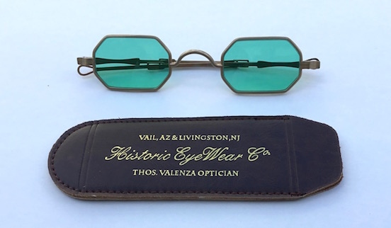 1835-80 Octagon in Virgina City Gold Dust<br>Show with our new 1800s Genuine Leather Slip-In spectacle case  $10.00