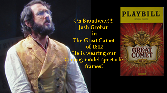 Josh Groban on Broadway in The Great Comet of 1812<br>He is wearing the Oblong in Leadville Tarnished Silver