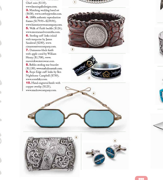 Cowboy & Indians Nov / Dec Holiday Gift Guide<br>Featuring the 1835-80 Octagon in Tombstone Silver Dust