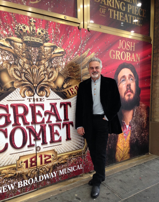 Thomas Valenza wearing the Blued Steel Oval Large<br>Attending the Broadway show: The Great Comet of 1812