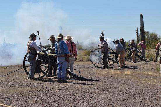 Picacho Peak Civil War Reenactment<br>Civl War reenactment at Picacho Peak State Park, AZ March 18-19, 2017. Firing the big guns