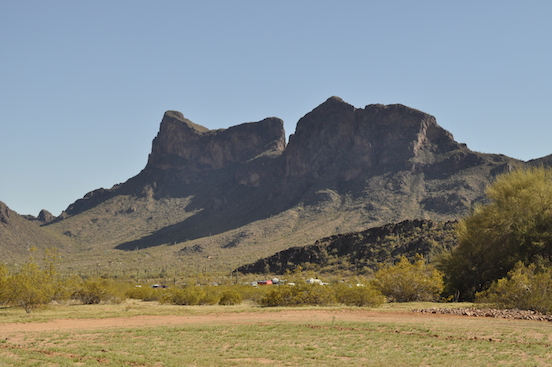 Picacho Peak,  Arizona State park <br>Civil War skirmish reenactment was held here  March 18-19, 2017